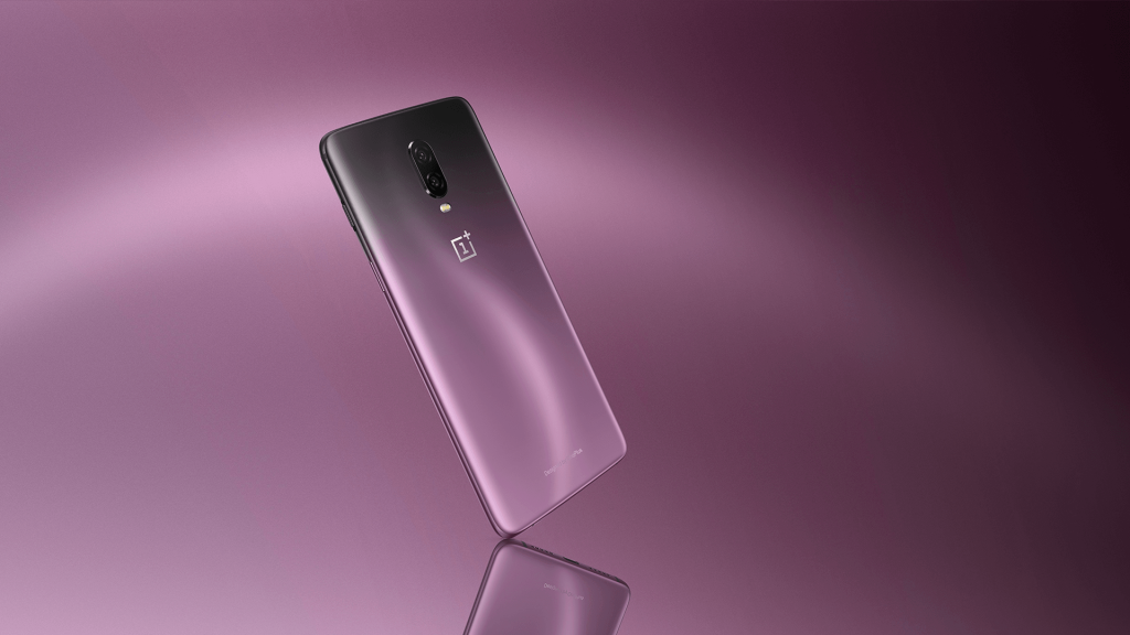 oneplus 6T thunder purple phone
