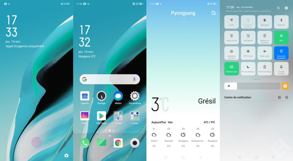 Interface ColorOS