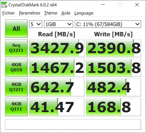 msi ps63 ssd test