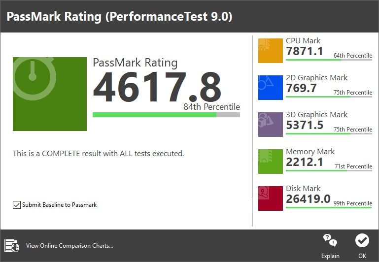 msi ps63 test performances