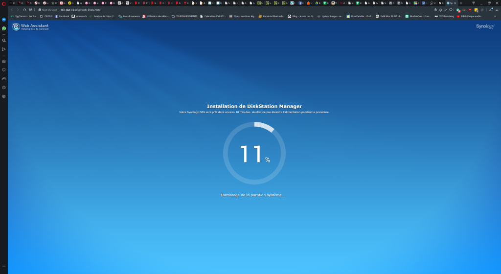 test synology ds 120j
