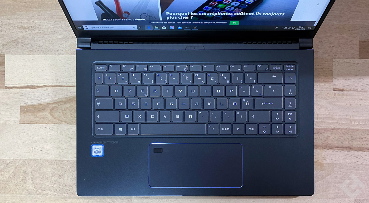 MSI PS 63 Test Clavier